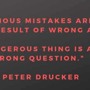 """""""The most serious mistakes are not being made as a result of wrong answers. The true dangerous thing is asking the wrong question."""""""